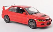 Mitsubishi Lancer miniature Evolution IX rouge RHD