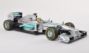 Mercedes F1 miniature 2013 W04 No.9 Petronas GP Monaco N.Rosberg