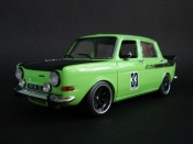 Simca 1000 diecast rally 2 green
