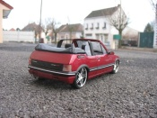 Peugeot tuning 205 CTI rouge metallized