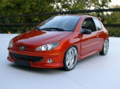 Peugeot tuning 206 RC orange tuning