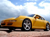 Porsche 997 Carrera yellow