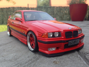 Bmw tuning M3 E36 Light Weight rosso