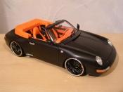 Miniature Porsche 993 Cabriolet  Carrera noire