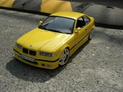 Bmw M3 E36 jaune wheels racing hart