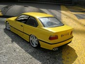 Bmw M3 miniature E36 jaune tuning