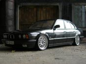 Bmw 535 1988  nero ruote bbs bords larges Minichamps