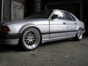 Bmw 730 E32  e32 gray 1986 wheels bbs 18 inches Minichamps
