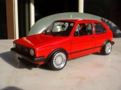 Miniature German Look Volkswagen Golf 1 GTI rouge jantes bbs