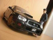Subaru Impreza WRX STI 2003 noire Autoart