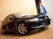Mitsubishi Lancer Evolution VIII black