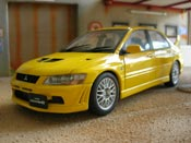 Mitsubishi Lancer Evolution VII  yellow Autoart
