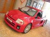 Renault Clio V6 red full stock