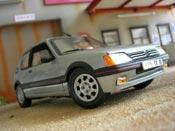 Peugeot 205 miniature GTI 1.9 Gris Futura origine