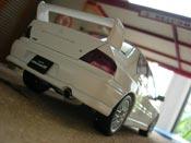Mitsubishi Lancer Evolution VII  white Autoart