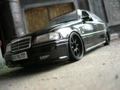 Mercedes tuning Classe C 36 amg noire