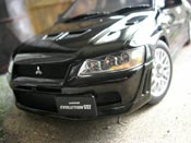 Mitsubishi Lancer Evolution VII  black Autoart