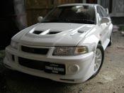 Mitsubishi Lancer Evolution VI makinen edition white