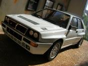 Miniature Lancia Delta HF Integrale  evolution 2 blanche