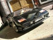 Lamborghini Countach 5000 Quattrovalvole  black Burago