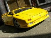 Lamborghini Diablo diecast 1990 yellow