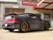 Honda CRX jdm grise Hot Wheels tuning