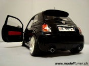 Fiat tuning 500 Abarth noire 2007