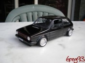 Miniature German Look Volkswagen Golf 1 GTI jantes schmidt