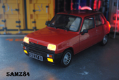 Renault 5 miniature Alpine Turbo Rouge LED
