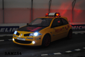 Renault Megane miniature R26R Jaune Sirius Safety Car