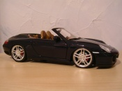 Porsche tuning 996 Cabriolet black wheels f430