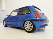 Renault tuning 5 GT Turbo jantes speedline 15 pouces blue