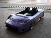 Bugatti tuning EB110 barquette bleue