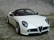Alfa Romeo tuning 8C Competizione spider mr white wheels alu
