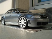 Audi tuning S4 v6 bi-turbo gray wheels 18 inches