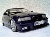 Bmw 325i berline e36 tds kit m3 blu metallizzato