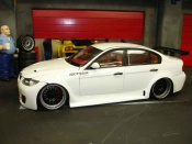 Bmw 330 miniature E90 jantes bbs preparation route tsw