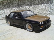 Bmw tuning M3 E30 black engine swap e36 wheels bbs capot kevlar