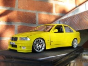 Bmw tuning M3 E36 berline rtr yellow carlux wheels m3 gtr