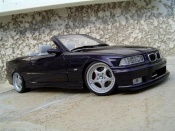 Bmw M3 E36 cabriolet convertible techno violet wheels porsche