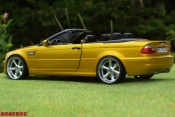 Bmw tuning M3 E46 cabriolet yellow candy wheels chrome 18 inches