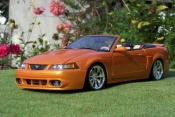 Ford tuning Mustang 2003 svt convertible orange juice