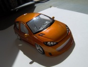 Peugeot 206 RC  orange Norev 1/18