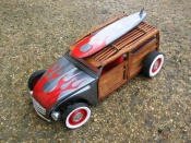Miniature Hot Rod Citroen 2CV woody the wooden horse hot rod