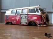 Volkswagen Combi diecast hoodride