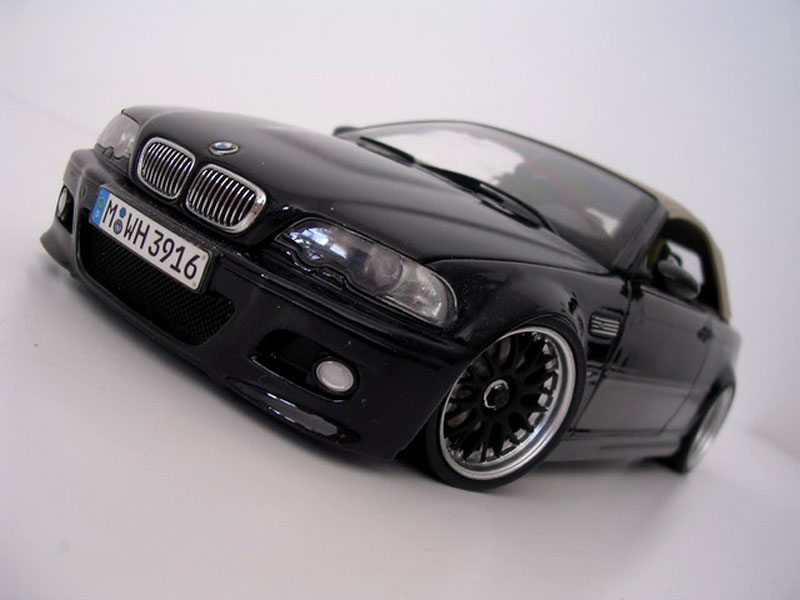 Bmw M3 E46 cabriolet black wheels bbs