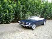 Ford Mustang 1965  convertible blue Jouef
