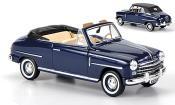 Fiat 1400 miniature Cabriolet bleu 1950