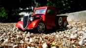 Ford tuning 1934 red moteur prepare