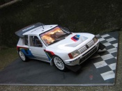 Peugeot 205 miniature Turbo 16 presentation rallye T16